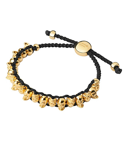 LINKS OF LONDON Yellow gold Skull Friendship bracelet (Gold