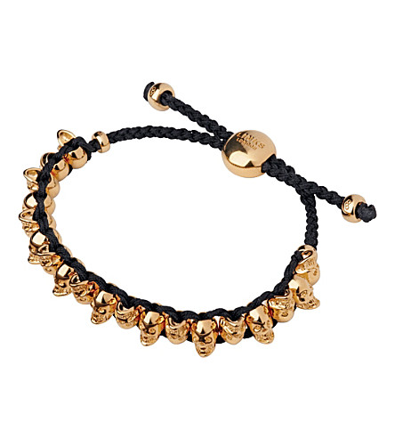 LINKS OF LONDON Rose gold Skull Friendship bracelet (Rose+gold