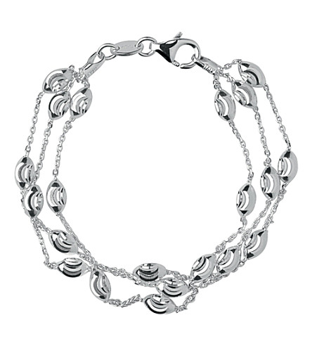 LINKS OF LONDON Beaded chain 3-row bracelet (Silver