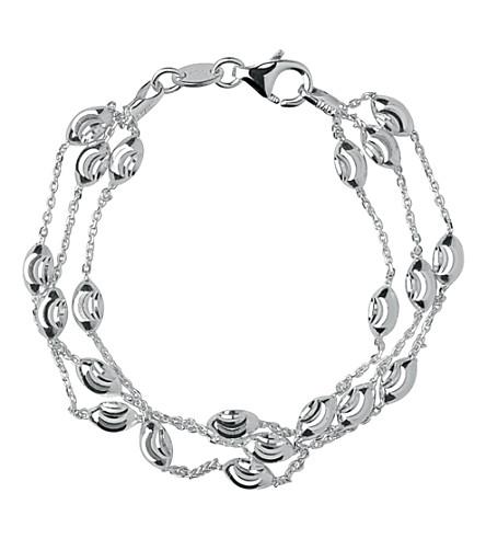 LINKS OF LONDON 串珠链3排手链 (银色