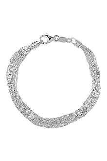 LINKS OF LONDON Silk 10 row sterling silver multi-chain bracelet