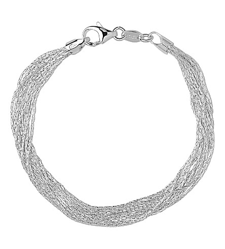 LINKS OF LONDON Silk 10 Row sterling silver multi-chain bracelet (Silver