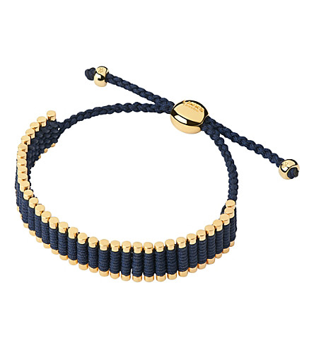 LINKS OF LONDON Yellow-gold friendship bracelet (Blue