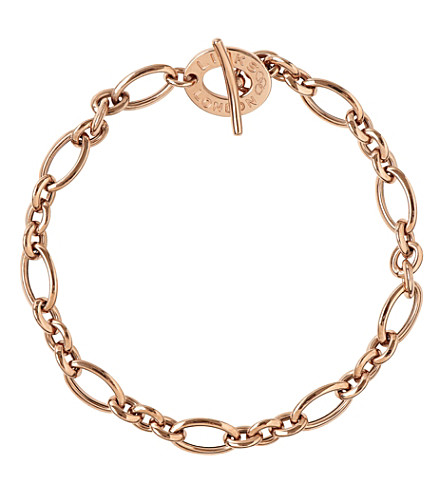 LINKS OF LONDON Links of London Signature 18ct rose gold charm bracelet (Rose+gold