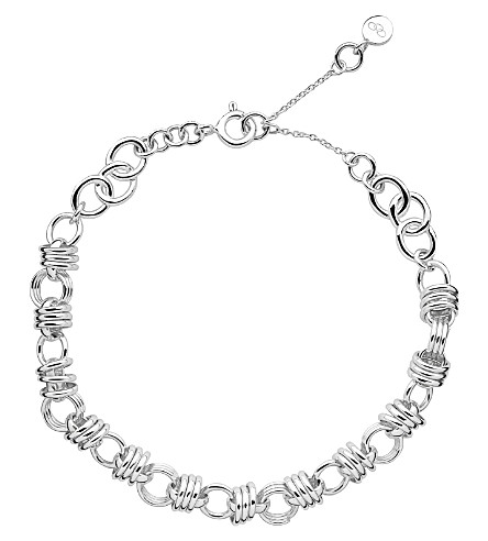 LINKS OF LONDON Sweetie extra small charm chain bracelet (Silver