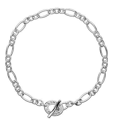 LINKS OF LONDON 标志性的超小纯银手链 (银色