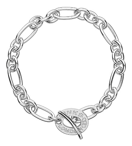 LINKS OF LONDON Signature sterling silver charm bracelet (Silver