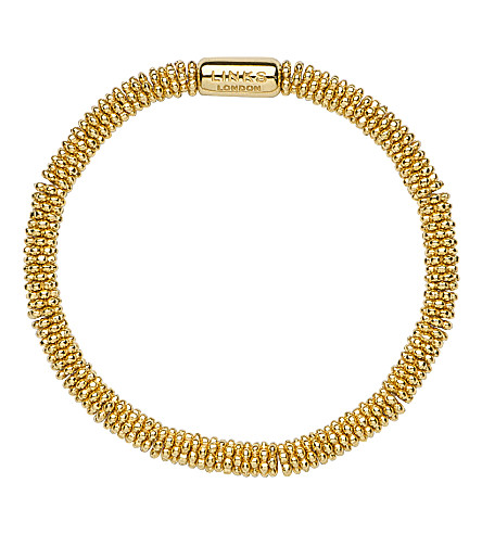 LINKS OF LONDON Effervescence Star extra-small yellow-gold vermeil bracelet (Gold+plated+silver