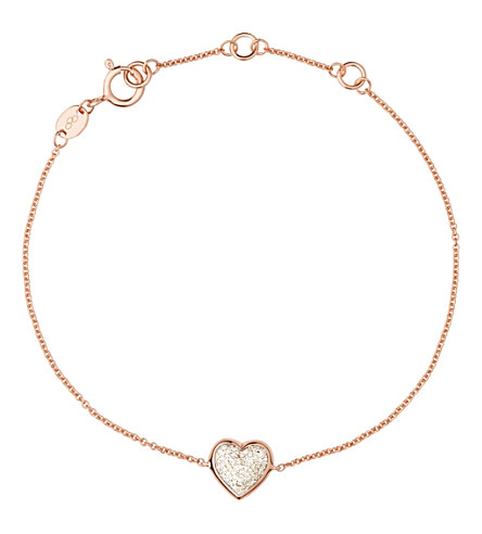 LINKS OF LONDON Heart rose gold and diamond bracelet (Rose+gold