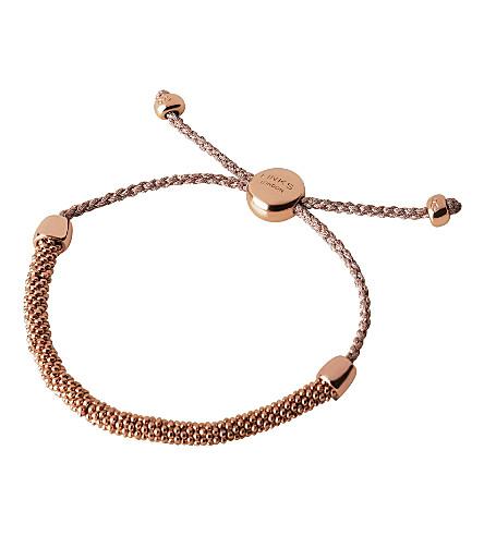 LINKS OF LONDON Effervescence Xs sterling silver cord bracelet