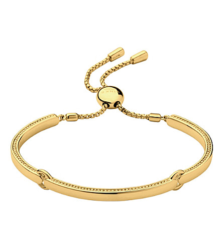 LINKS OF LONDON Narrative 18ct gold vermeil bracelet (Gold