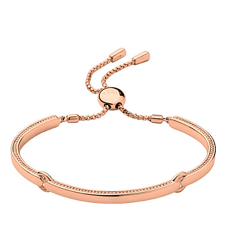 LINKS OF LONDON Narrative 18ct rose gold vermeil bracelet (Rose+gold