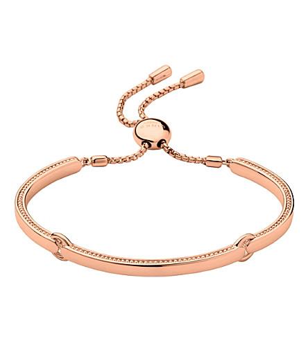 LINKS OF LONDON Narrative 18ct rose gold vermeil bracelet (Rose+gold