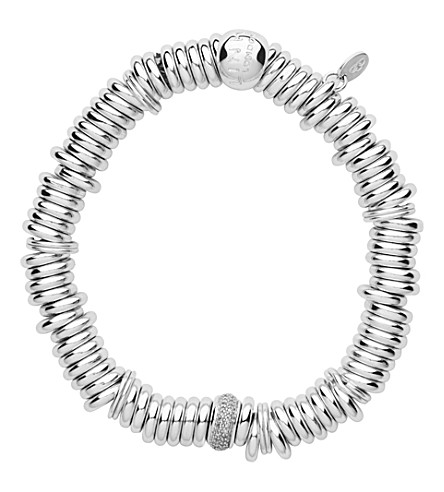 LINKS OF LONDON Sweetie sterling silver and diamond pave bracelet
