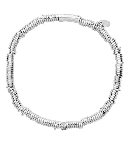 LINKS OF LONDON Sweetie XS sterling silver and diamond pave bracelet (Silver