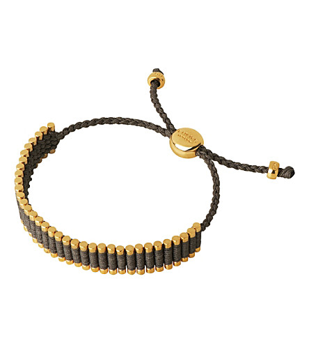 LINKS OF LONDON 18ct gold-plated friendship bracelet