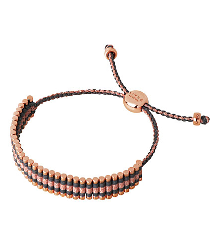 LINKS OF LONDON 18ct rose gold-plated friendship bracelet