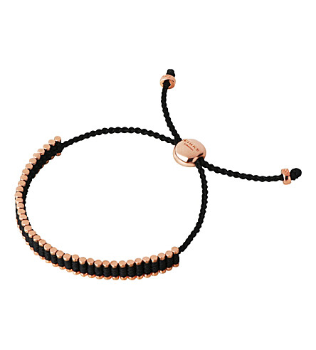 LINKS OF LONDON 18ct rose gold-plated mini friendship bracelet
