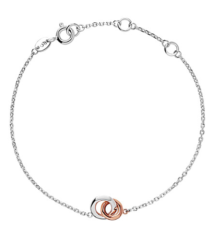 LINKS OF LONDON 20/20 sterling silver and 18ct rose-gold bracelet (Rose+gold