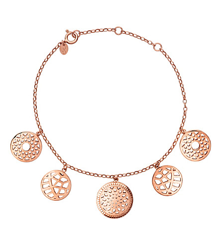 LINKS OF LONDON 18ct rose-gold vermeil coin bracelet