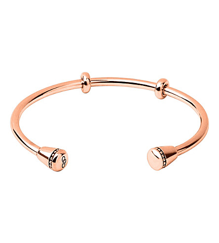 LINKS OF LONDON Narrative 18ct rose-gold vermeil charm cuff