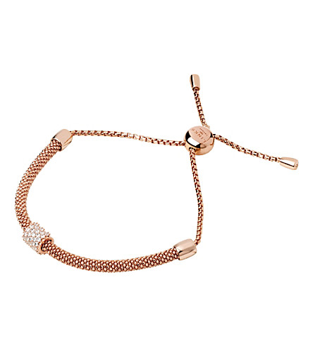 LINKS OF LONDON Starlight 18ct rose gold-plated and sapphire bead bracelet