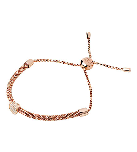 LINKS OF LONDON Starlight 18ct rose-gold vermeil and sapphire round bracelet