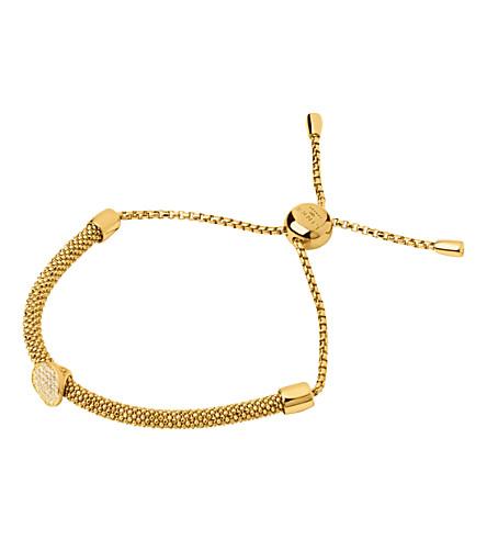 LINKS OF LONDON 星光18ct 黄金色迪克·维蒙蓝宝石圆形手链