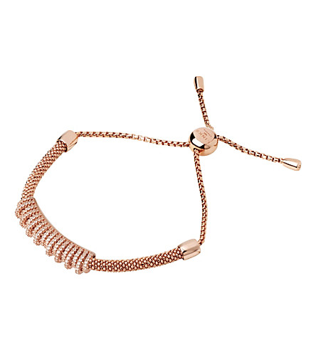 LINKS OF LONDON Starlight 18ct rose-gold vermeil and sapphire crown bracelet