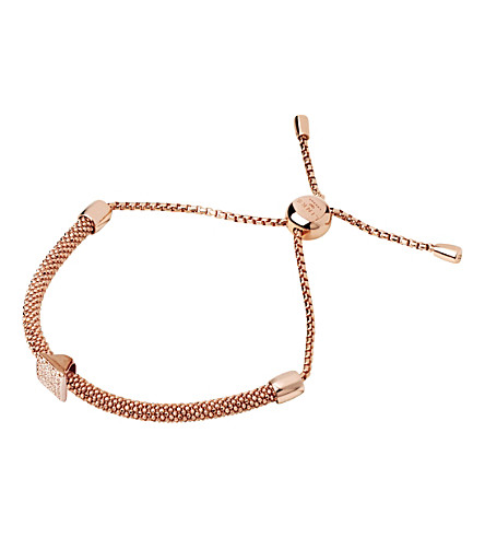 LINKS OF LONDON Starlight 18ct rose-gold vermeil and sapphire square bracelet