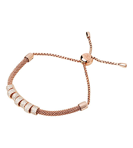 LINKS OF LONDON Starlight 18ct rose-gold vermeil and sapphire coronet bracelet