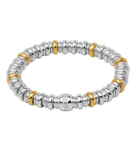 LINKS OF LONDON Sweetheart sterling silver and 18ct yellow-gold bracelet