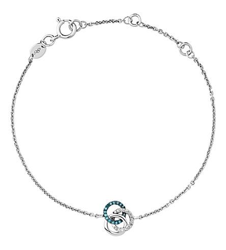 LINKS OF LONDON 珍贵的纯银和钻石手镯