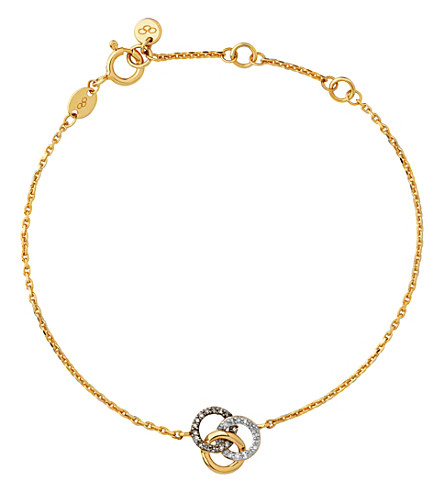 LINKS OF LONDON Treasured 18ct yellow-gold and diamond bracelet