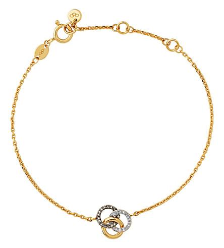 LINKS OF LONDON 珍贵的18ct 黄金和钻石手镯