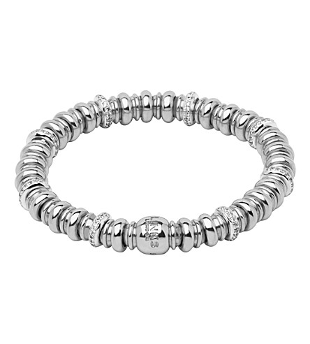 LINKS OF LONDON Sweetheart sterling silver and white topaz bracelet (Silver