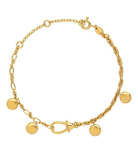 LINKS OF LONDON Amulet Carabiner 18ct yellow-gold vermeil bracelet (Gold
