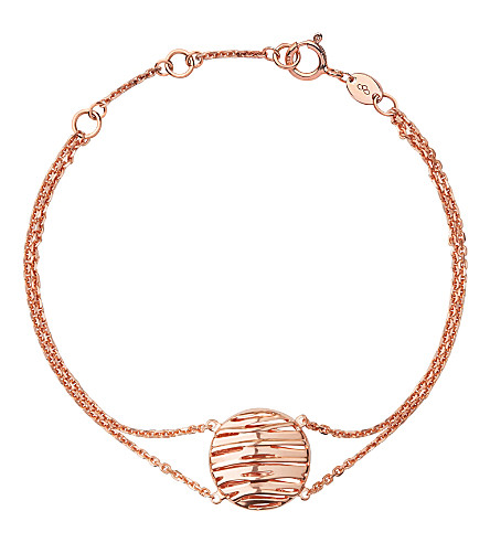 LINKS OF LONDON Thames 18ct rose gold vermeil bracelet (Rose+gold