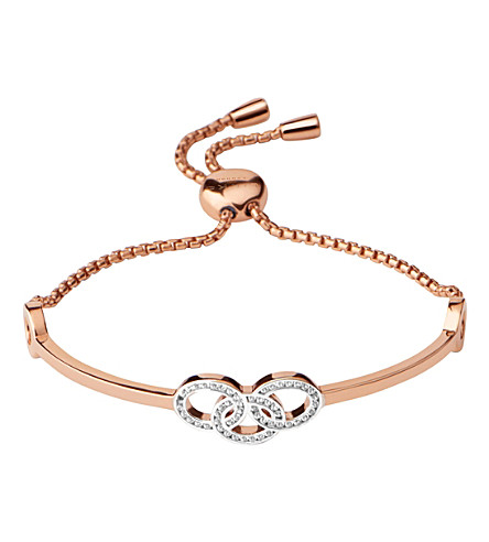 LINKS OF LONDON Signature 18ct rose gold and sapphire bracelet (Rose+gold