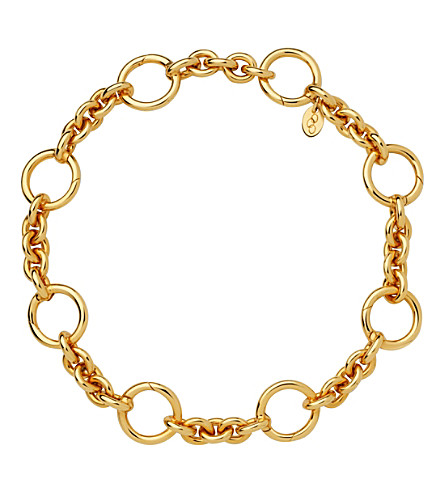 LINKS OF LONDON Capture 18ct yellow-gold vermeil bracelet (Yellow+gold