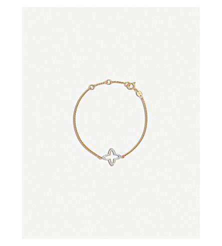 LINKS OF LONDON Open Star 18ct yellow gold-vermeil and diamond bracelet