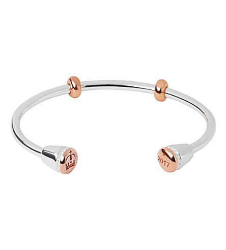 LINKS OF LONDON Ascot silver & rose gold cuff