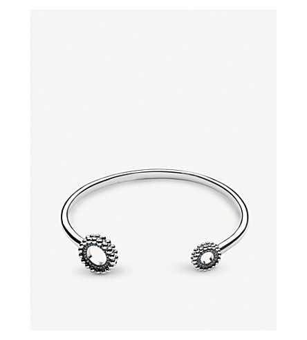 LINKS OF LONDON Effervescence sterling silver and diamond cuff