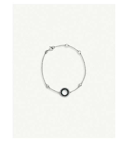 LINKS OF LONDON Effervescence sterling silver and blue diamond bracelet