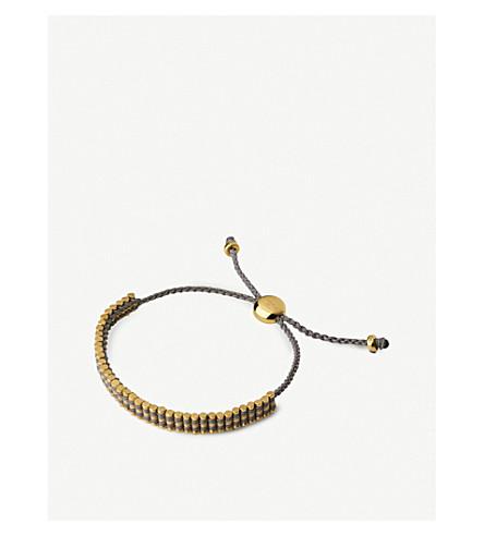 LINKS OF LONDON Mini 18ct yellow gold-vermeil friendship bracelet