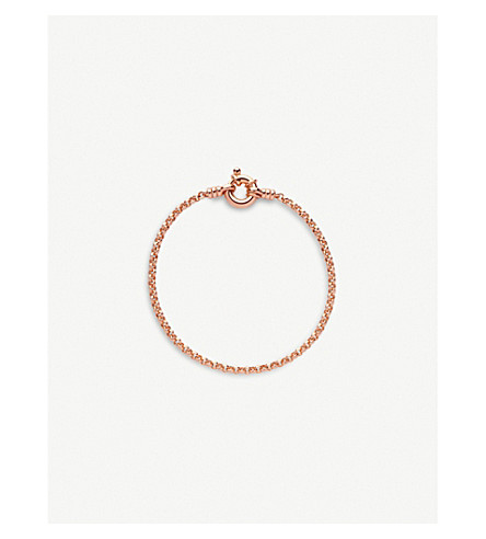 LINKS OF LONDON Mini Belcher 18ct rose gold-vermeil bracelet