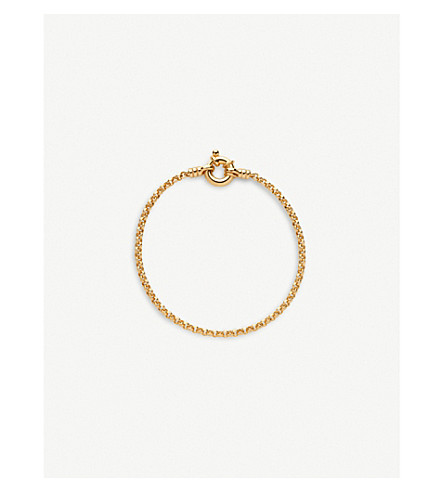 LINKS OF LONDON Mini Belcher 18ct yellow gold-vermeil bracelet