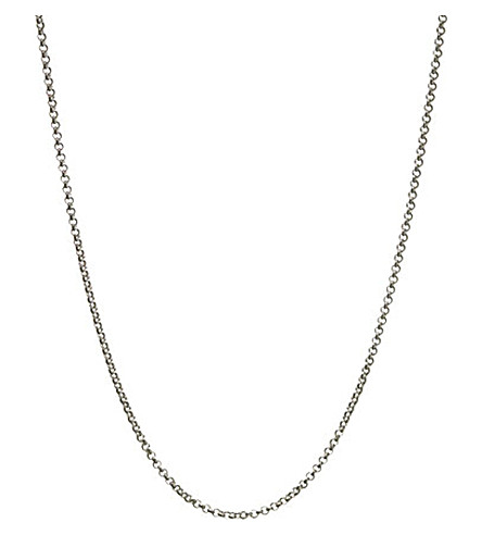 LINKS OF LONDON Mini belcher sterling silver chain 61cm