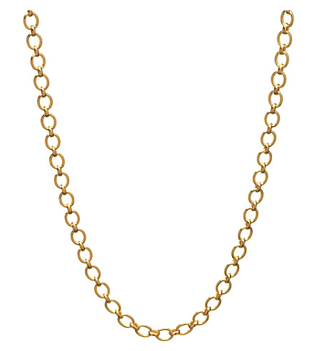LINKS OF LONDON Essentials 18ct yellow-gold classic chain (Gold