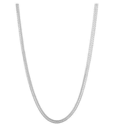 LINKS OF LONDON Silk 5 row sterling silver necklace